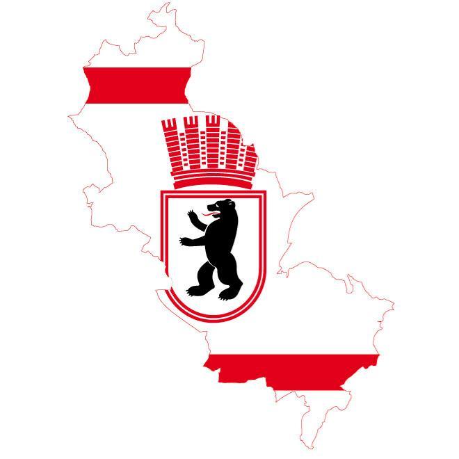 FLAG MAP OF EAST BERLIN VECTOR.