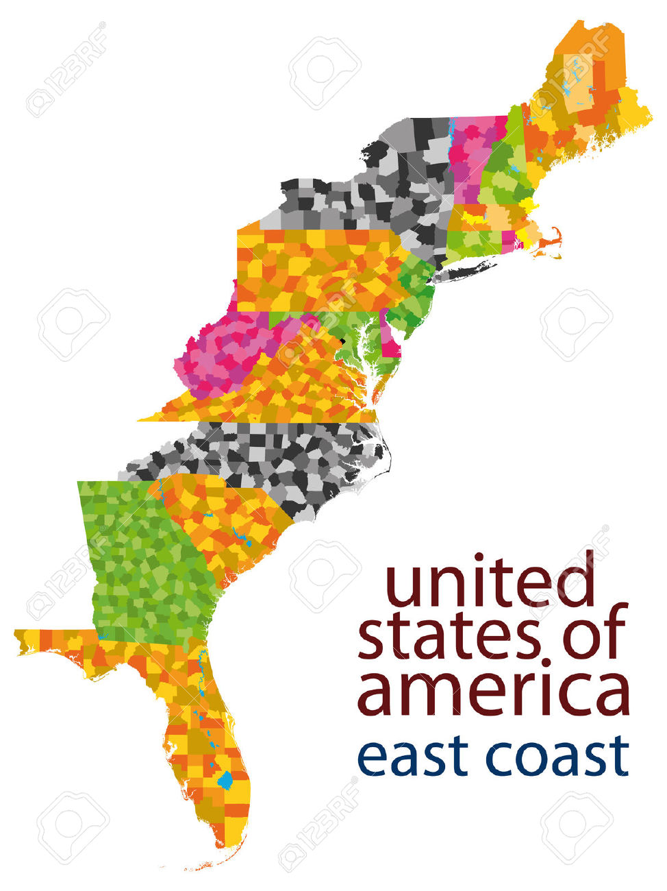 Usa East Coast Royalty Free Cliparts, Vectors, And Stock.