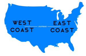 East Coast vs. West Coast: The Workplace War.