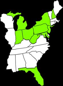 East coast map clipart.