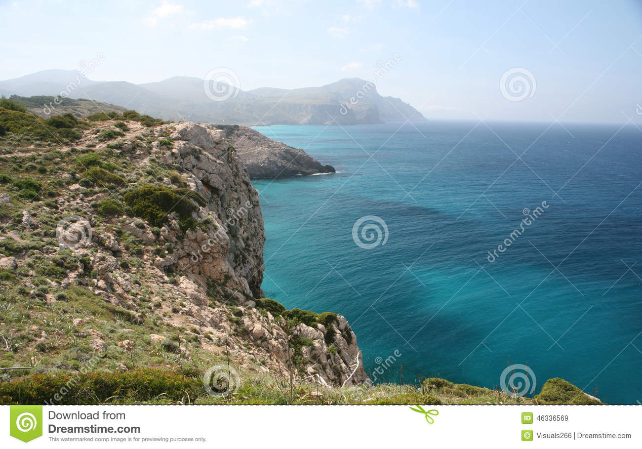 East Coast Of Mallorca, Spain Stock Photo.