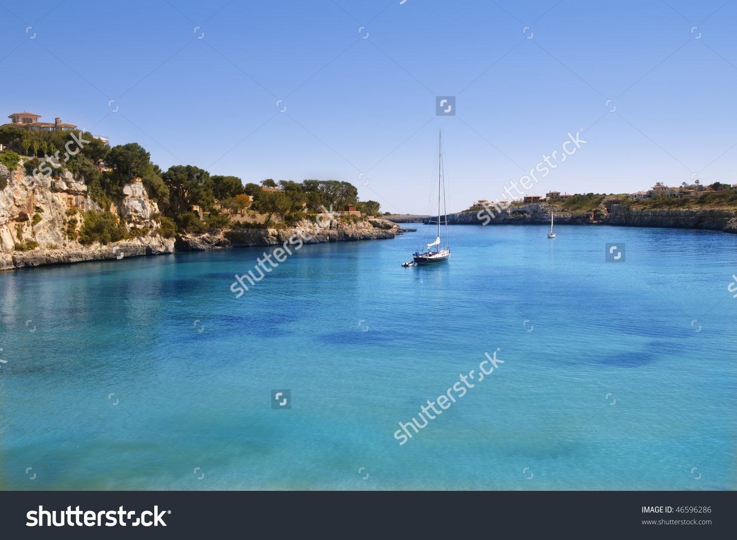 Manacor Porto Cristo Mallorca Beach Balearic Islands Spain Stock.