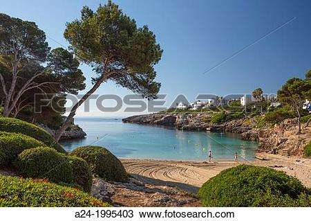 Stock Photo of Spain , Mallorca Island, East Mallorca ,Cala d??Or.