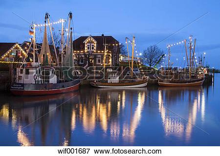 "Picture of ""Germany, East Frisia, Neuharlingersiel, Christmas."