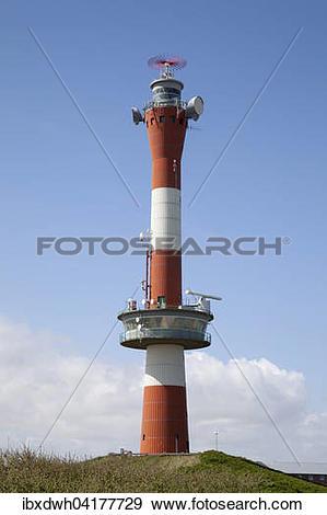 Stock Photograph of New Lighthouse, Wangerooge, East Frisian.
