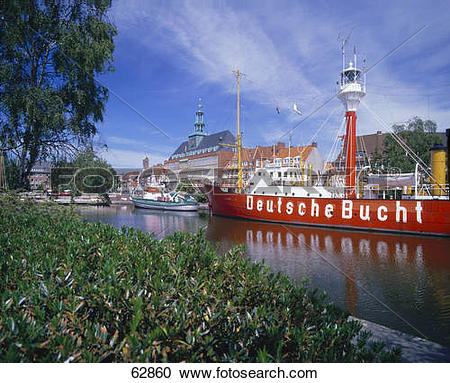 Stock Photography of Ship museum in river, Emden, East Frisia.