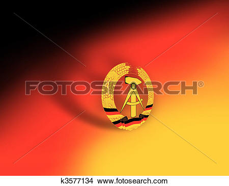 Drawings of Flag symbol for DDR, east germany k3577134.