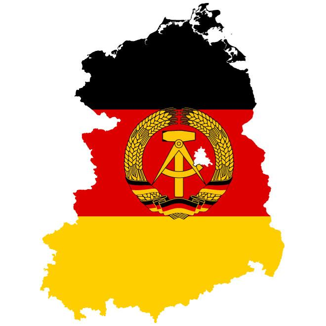 MAP OF EAST GERMANY VECTOR.