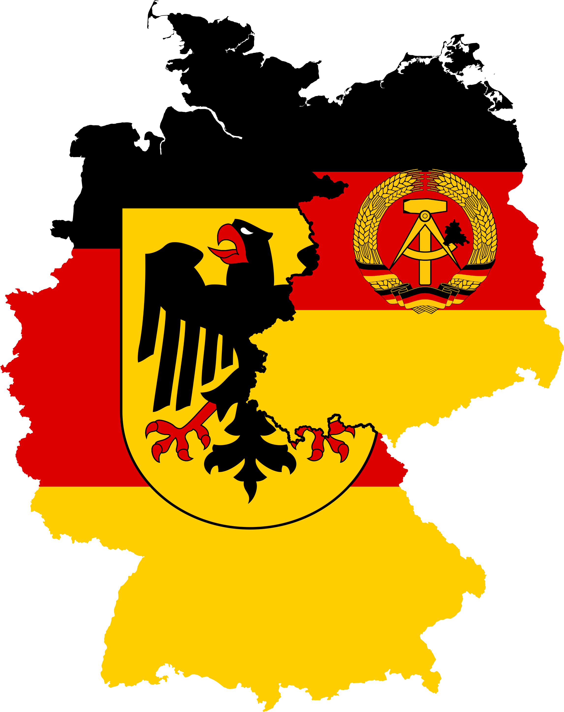 File:West Germany & East Germany Flag Map (1948.