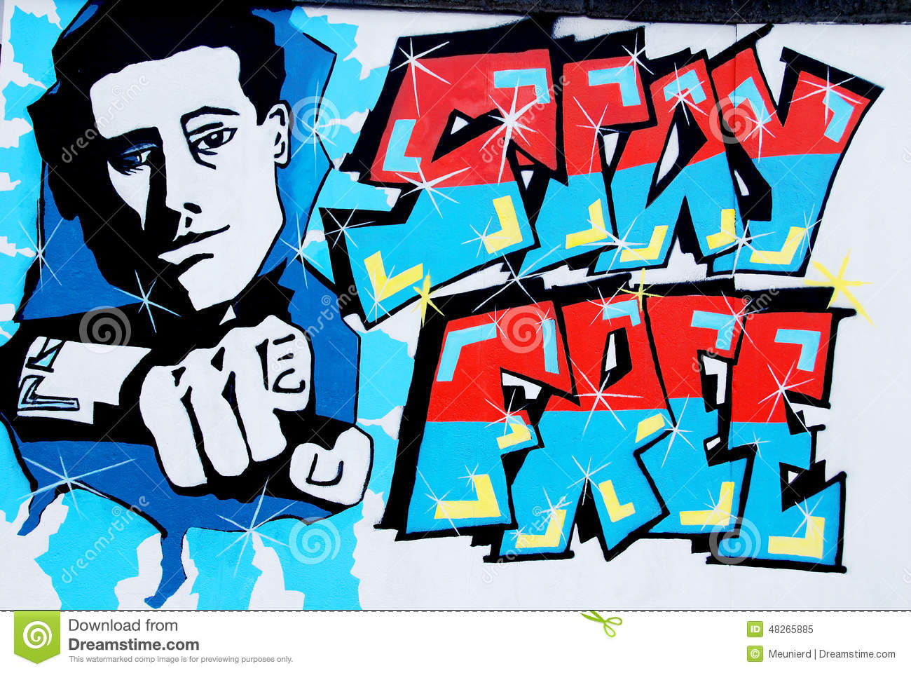 East Side Gallery Editorial Image.