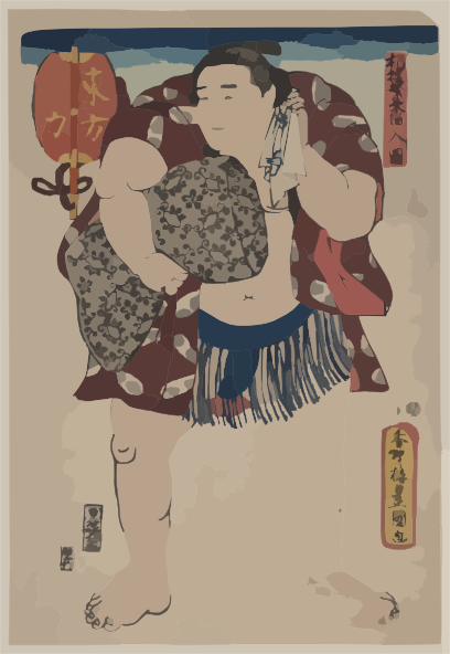 The Wrestler Ichiriki Of The East Side. Clip Art at Clker.com.