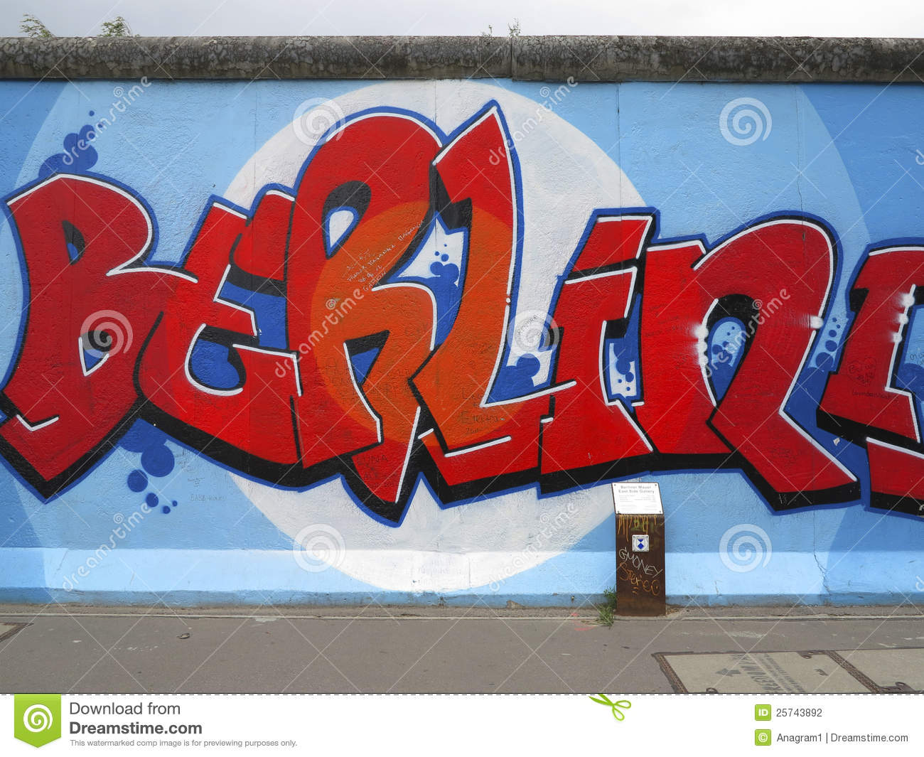 Painting On The Berlin Wall Editorial Stock Photo.