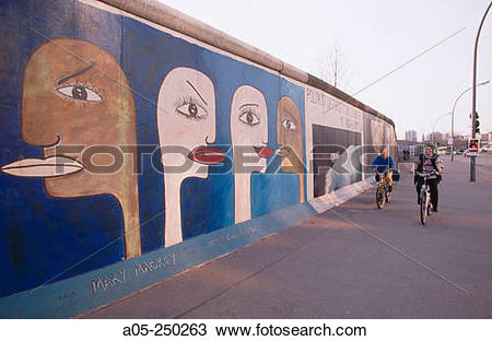 Stock Photo of Berlin Wall. East side gallery. Berlin. Germany a05.