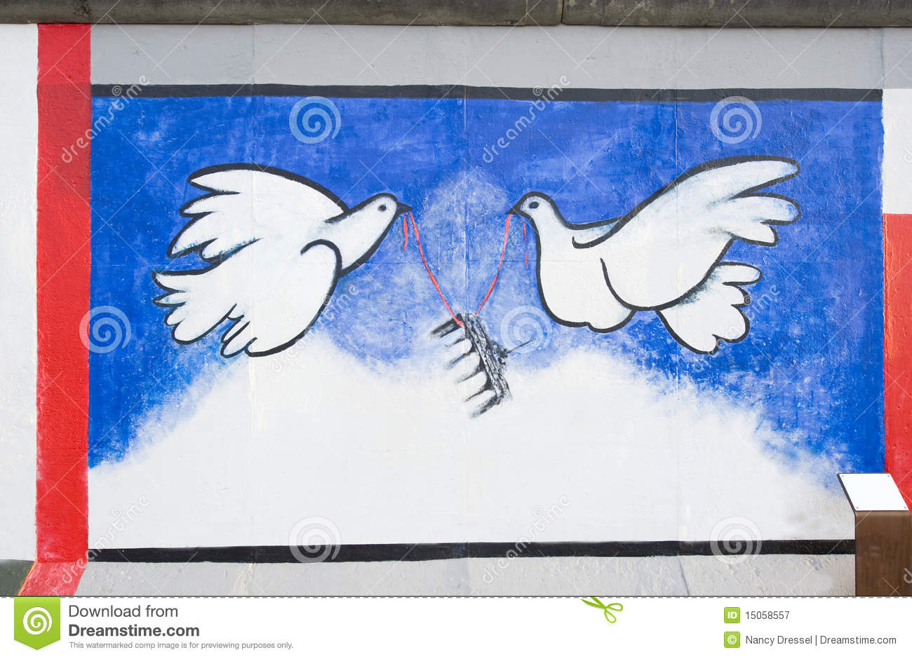 Painting On Berlin Wall At East Side Gallery Editorial Stock Photo.