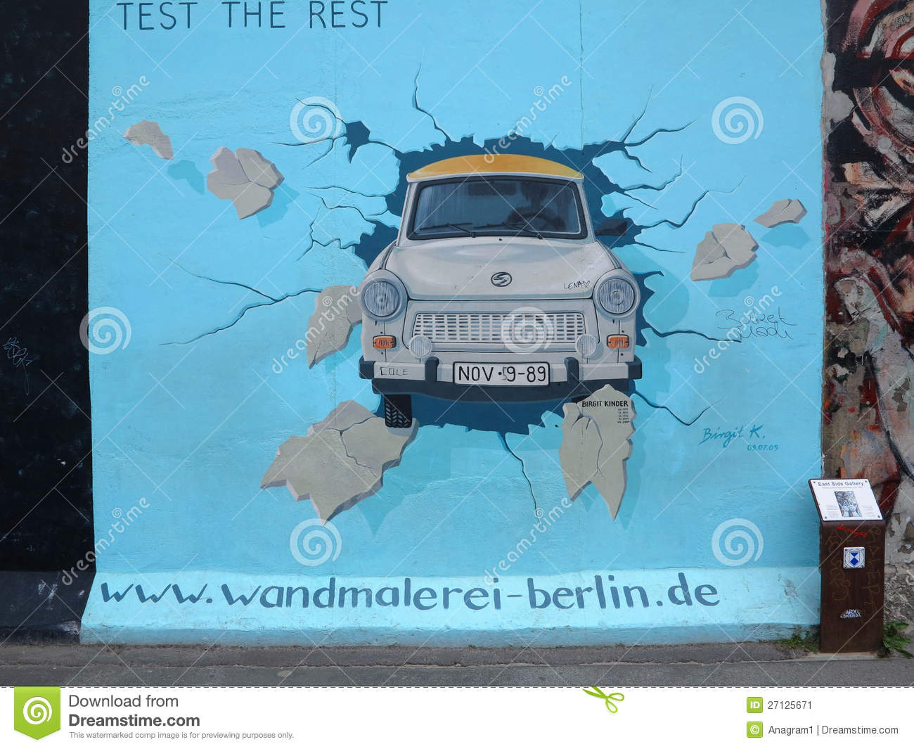 East side gallery berlin clipart #10