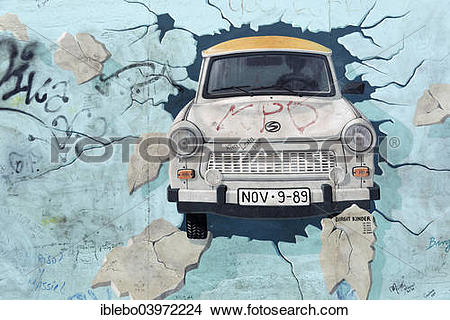 "Stock Photo of ""Mural, East Side Gallery, Berlin Wall gallery."