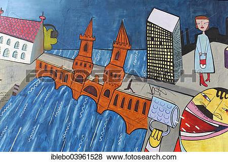 """Pictures of """"Mural, East Side Gallery, Berlin Wall Gallery, Berlin."""