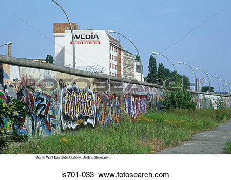 Stock Photo of Berlin Wall Eastside Gallery, Berlin, Germany is701.