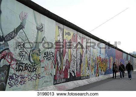 Stock Photo of Berlin Wall, East Side Gallery, Friedrichshain.