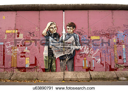 Stock Photography of Germany, Berlin, East Side Gallery. A.