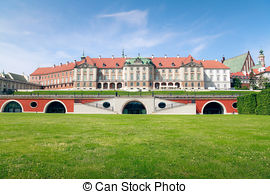 Stock Images of Royal Castle in Warsaw.