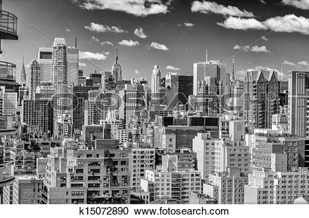 Stock Photography of New York City, Aerial View of the Upper East.