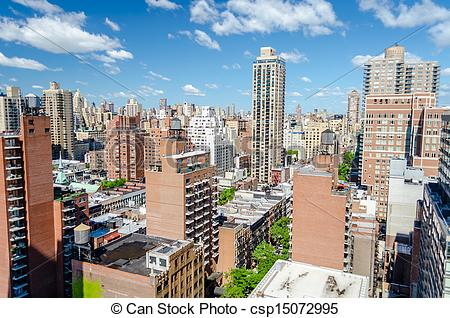 Stock Photographs of New York City, Aerial View of the Upper East.