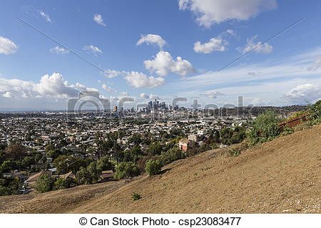 Picture of Los Angeles East Side View.