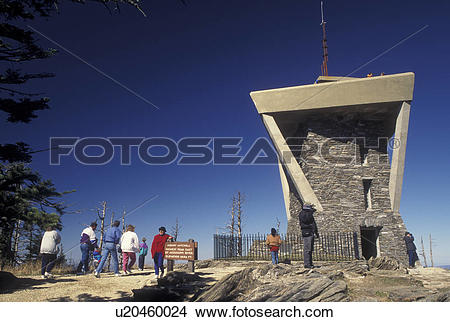 Stock Photo of NC, North Carolina, Mt. Mitchell (6684 feet.