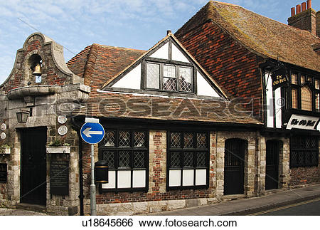 Stock Images of England, East Sussex, Rye. The Old Bell Inn, built.