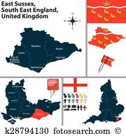 East sussex Clip Art Vector Graphics. 11 east sussex EPS clipart.