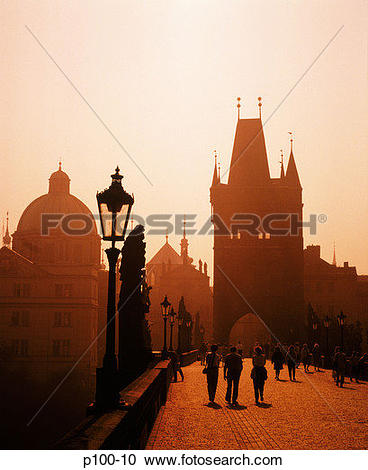 Stock Photography of Czech Republic, Prague, Charles Street Bridge.
