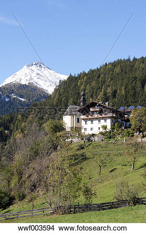 Stock Photo of Austria, East Tyrol, Oberpeischlach, chapel Maria.