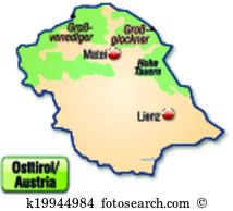 Map east tyrol Clipart Royalty Free. 21 map east tyrol clip art.