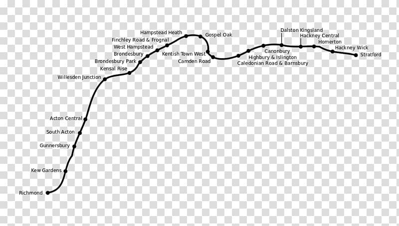 North London line East London line Rail transport Northern.
