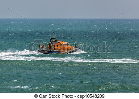Stock Illustration of RNLI lifeboat Diamond Jubilee at Eastbourne.