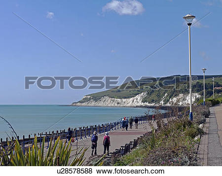 Pictures of England, East Sussex, Eastbourne. People strolling.