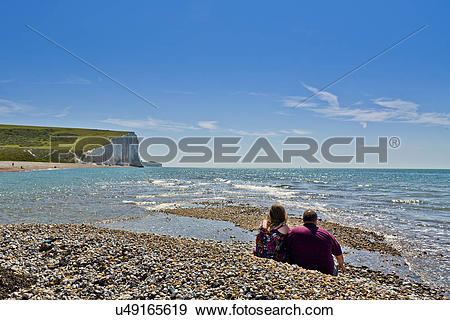 Stock Photograph of England, East Sussex, Eastbourne. A couple on.