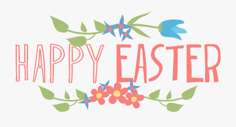 2018 Clipart Happy Easter Sign.