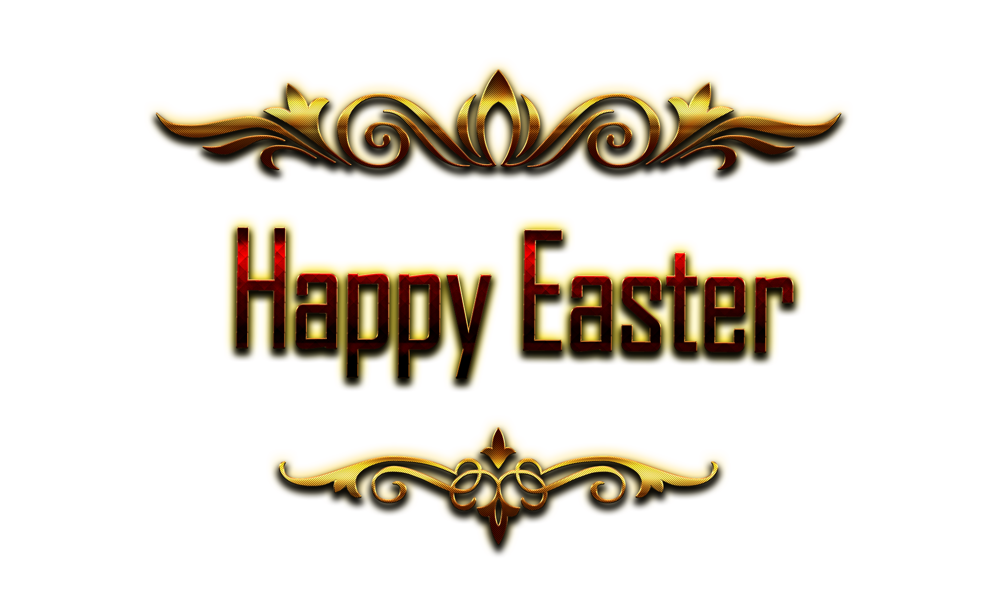 Happy Easter 2018 PNG.