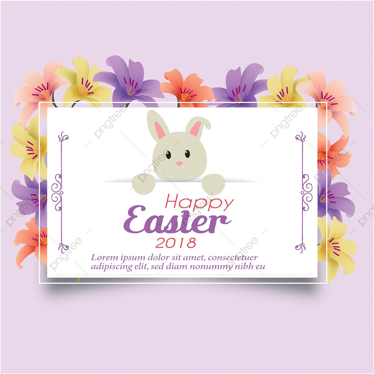 Happy Easter 2018, Easter, Cliparts, Happy Easter PNG and Vector.
