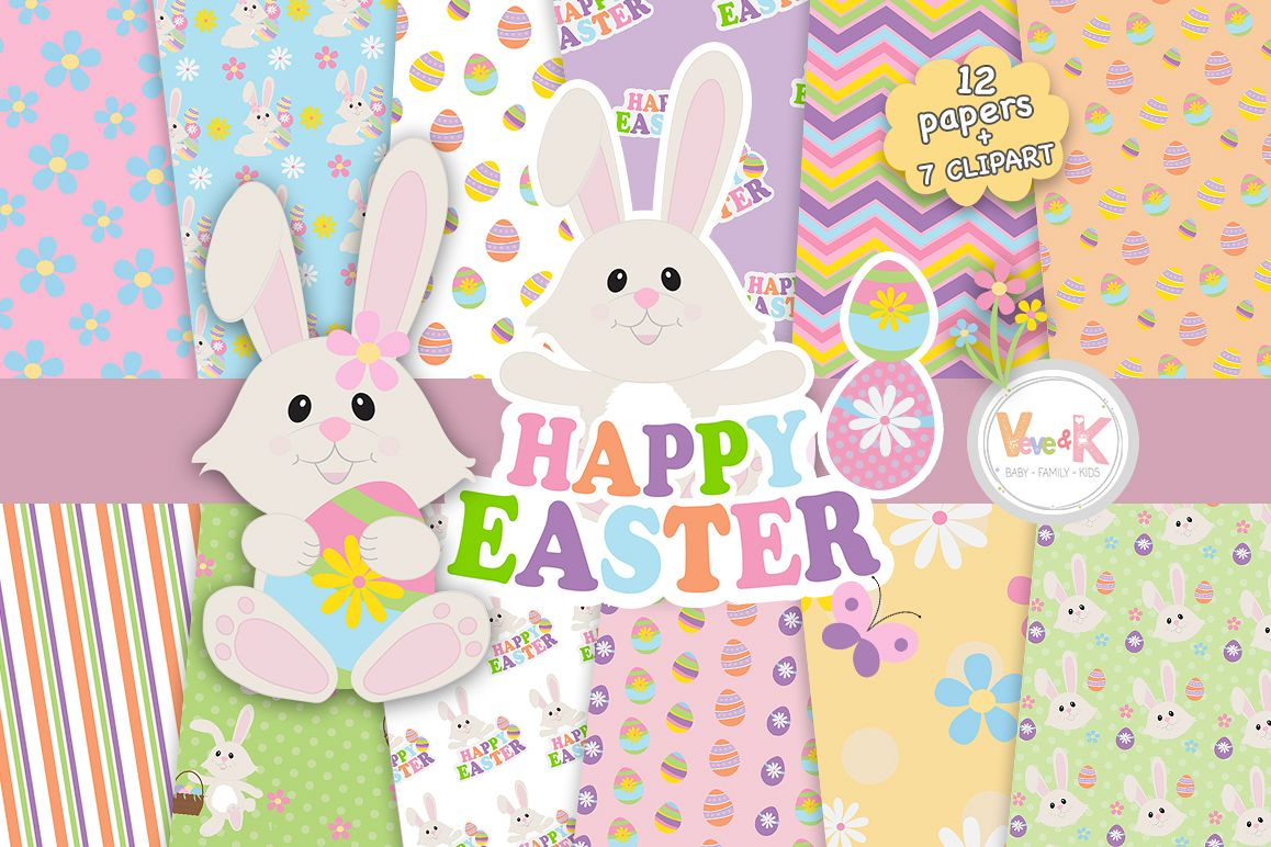 Easter Bunny Clip Art, Easter Clipart, Bunny Clipart, Spring Clipart, Egg  Hunt, Easter Bunny, Easter Papers, Spring Digital Papers, Spring.
