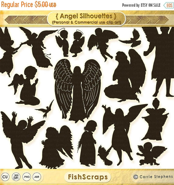 75% SALE Guardian Angel Clip Art Christian Graphic Supplies.