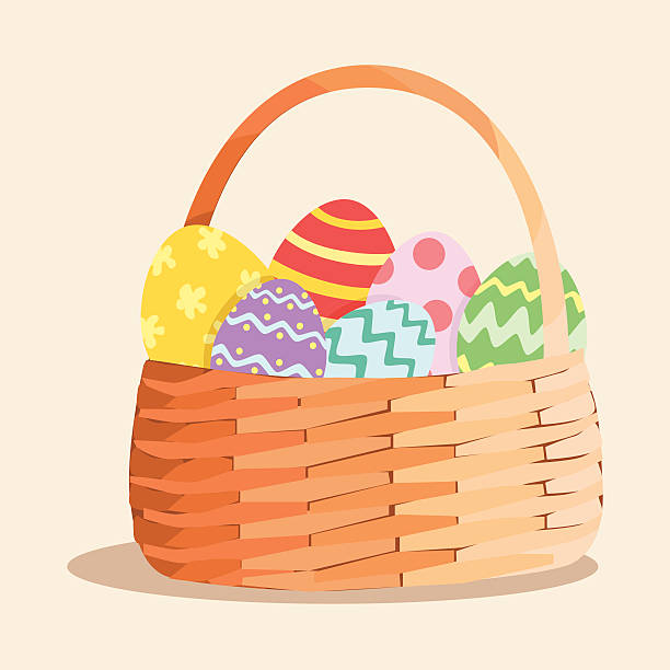 Best Easter Basket Illustrations, Royalty.