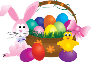 Free Easter Basket Clipart Image 0515.