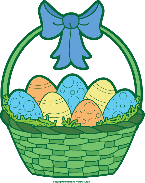 Free Easter Basket Clipart.