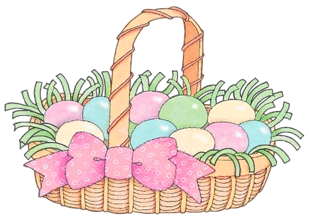 Easter Basket Clip Art.