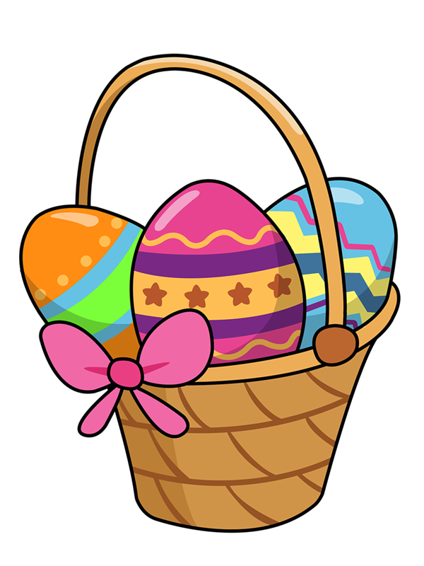 Easter basket free clipart images.