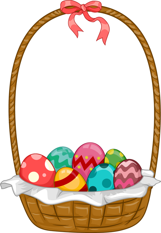 Easter baskets images clipart.