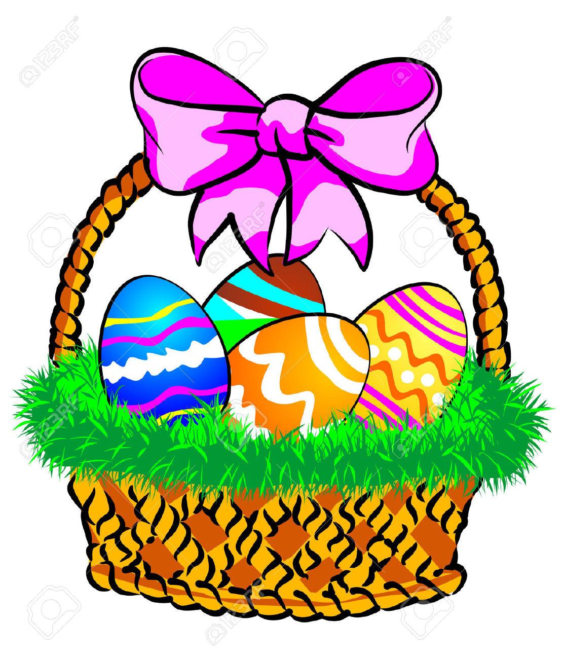 Easter Basket Clip Art.